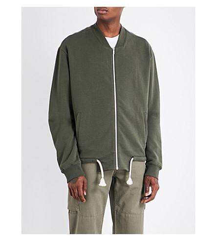 MAISON MARGIELA Rope-waist cotton sweatshirt (Olive