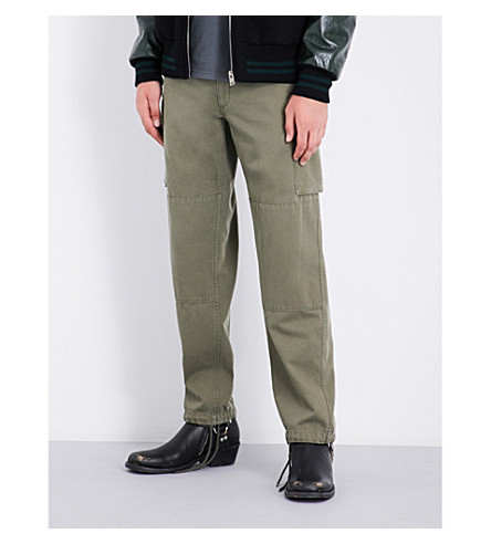MAISON MARGIELA Pocket-detailed cotton trousers (Light+military