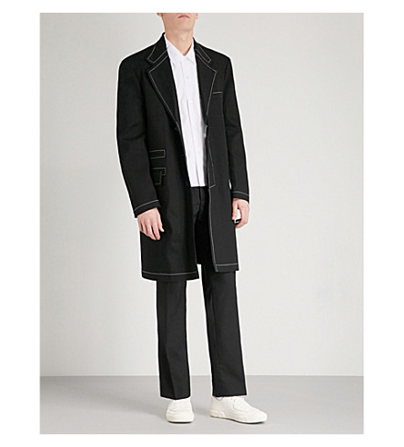 MAISON MARGIELA Stitch-detail stretch-denim coat (Black