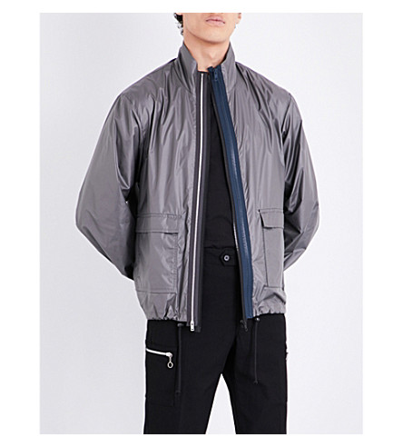 MAISON MARGIELA Triple zipper shell jacket (Dark+military