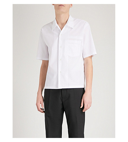 MAISON MARGIELA Regular-fit cotton-poplin shirt (White
