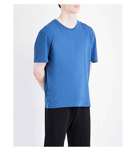MAISON MARGIELA Replica cotton-jersey T-shirt (Indigo