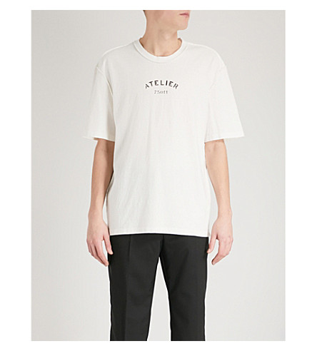 MAISON MARGIELA Text-print cotton-jersey T-shirt (Off+white