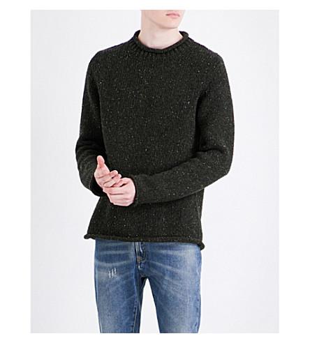 MAISON MARGIELA Fisherman knitted wool-blend jumper (Dark+green