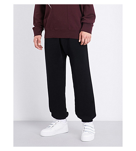 MAISON MARGIELA Loose-fit cotton-jersey jogging bottoms (Black