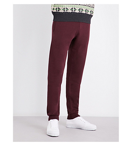 MAISON MARGIELA Relaxed-fit cotton-jersey track pants (Bordeaux
