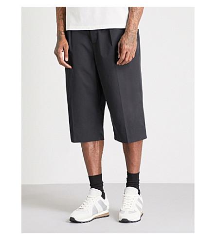 MAISON MARGIELA Tailored cropped cotton trousers (Black