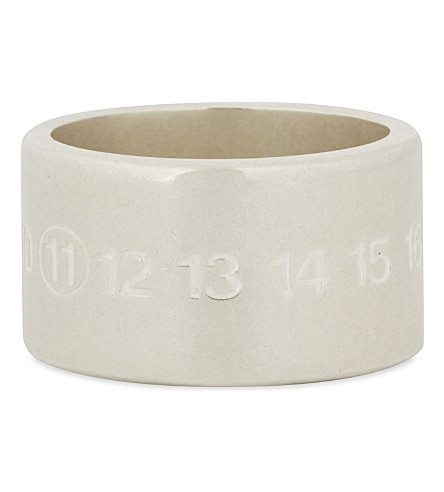 MAISON MARGIELA Engraved silver ring (Silver
