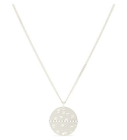 MAISON MARGIELA Silver disc necklace (Silver