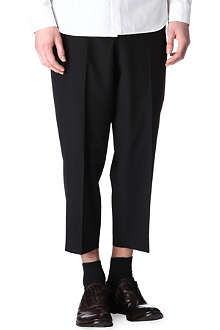 COMME DES GARCONS Cropped tapered-leg trousers