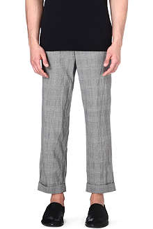 COMME DES GARCONS Checkered cropped trousers
