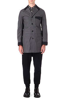 JUNYA WATANABE Cotton canvas parafin trench coat