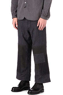 JUNYA WATANABE Wool stripe cropped trousers