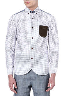 JUNYA WATANABE Elbow patch check shirt