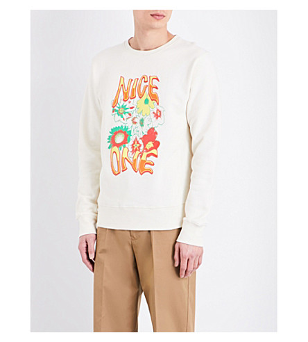 STELLA MCCARTNEY Nice One cotton-jersey sweatshirt (Ecru
