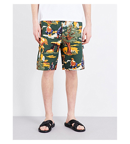 STELLA MCCARTNEY Tree-print denim shorts (Multicolour