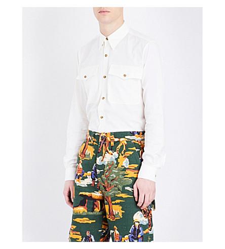 STELLA MCCARTNEY Regular-fit Western pocket cotton shirt (White