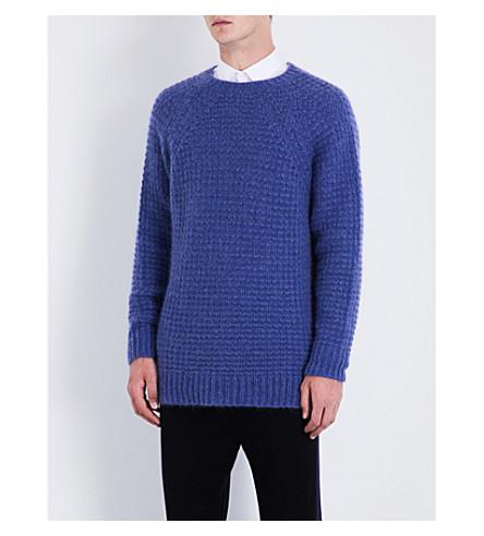 STELLA MCCARTNEY Waffle-knit wool-blend jumper (Lavender
