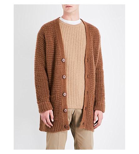 STELLA MCCARTNEY Oversized wool-blend cardigan (Toffee