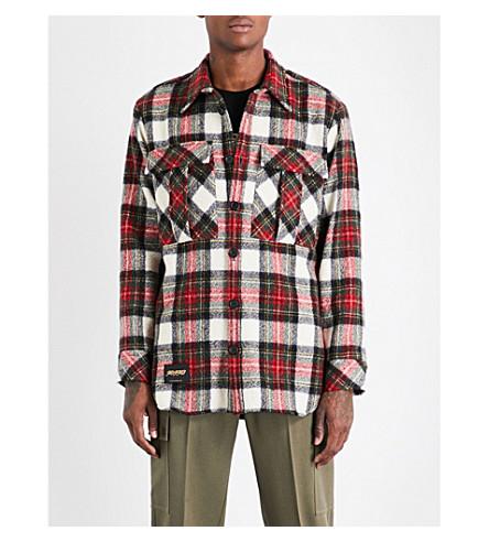 STELLA MCCARTNEY Checked wool overshirt (Red+multi
