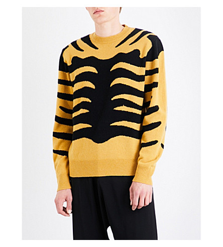 STELLA MCCARTNEY Tiger stripe knitted jumper (Bumble+bee+black