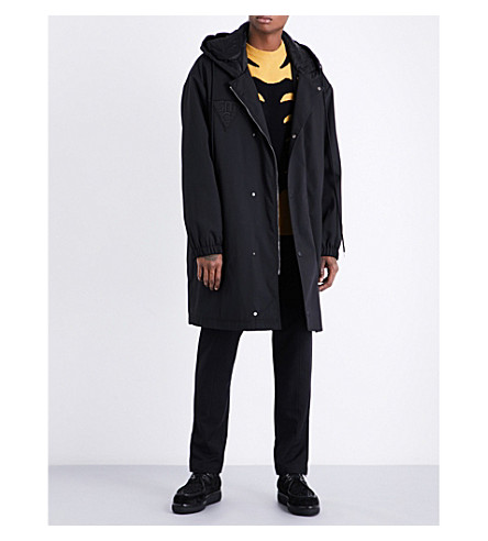 STELLA MCCARTNEY Oversized quilted coat (Black