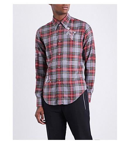 STELLA MCCARTNEY Slim-fit tartan shirt (Grey+multi