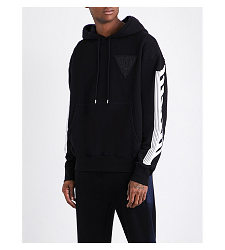 STELLA MCCARTNEY Logo-patch cotton-jersey hoody (Black