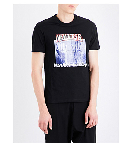 STELLA MCCARTNEY Slogan-print cotton-jersey T-shirt (Black