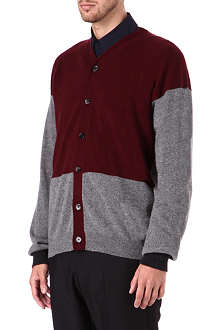 MARNI Bi-colour panel cardigan