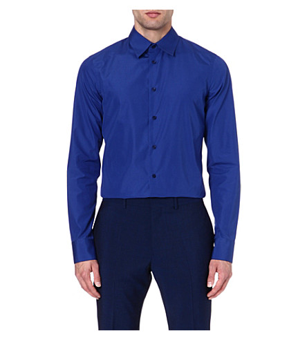 MARNI Slim-fit cotton shirt (Blue