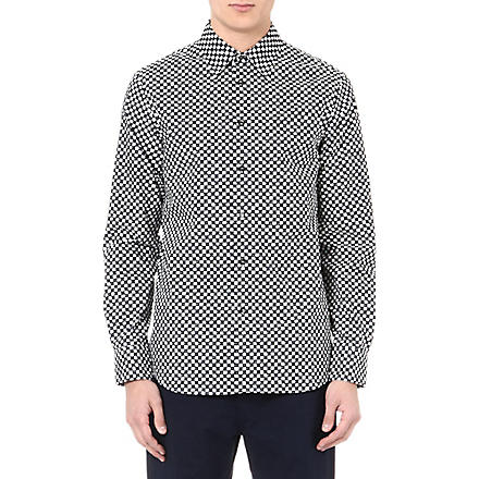 MARNI Cube printed shirt (Blue