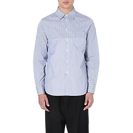 MARNI Broken stripe cotton shirt (Blue