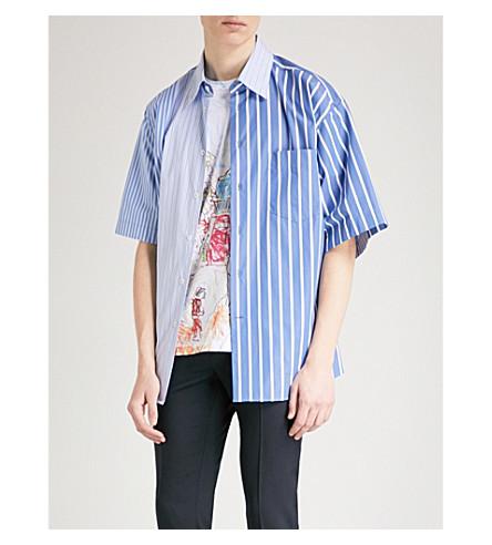 MARNI Striped oversized-fit cotton shirt (Sky+blue