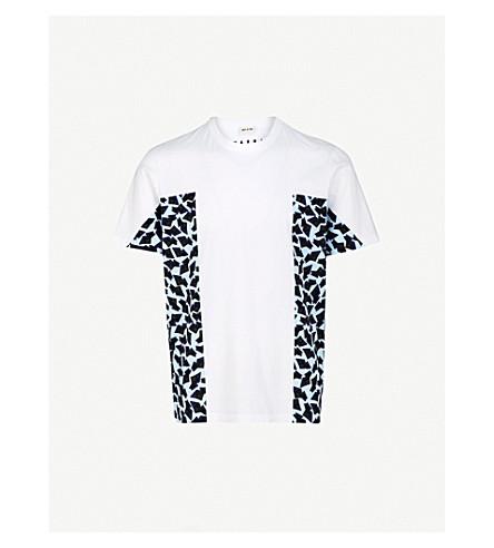 MARNI Side-print cotton-jersey T-shirt (Sky+blue