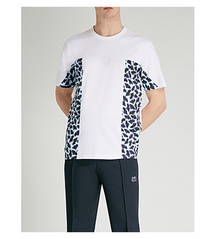 MARNI Side-print cotton-jersey T-shirt (Sky+blue
