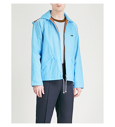 MARNI Zip-up shell jacket (Light+blue
