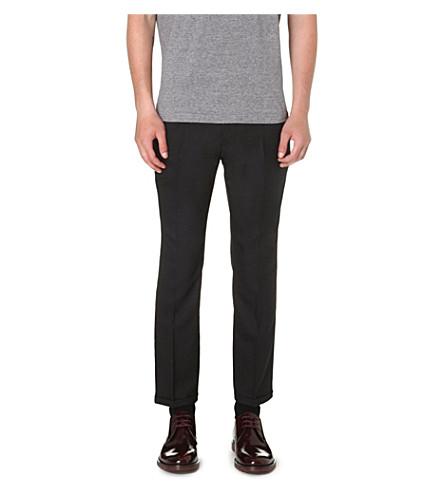 MARNI Slim-fit wool trousers (Black
