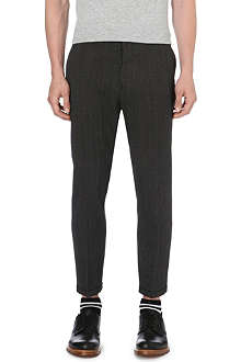 MARNI Herringbone slim-fit trousers