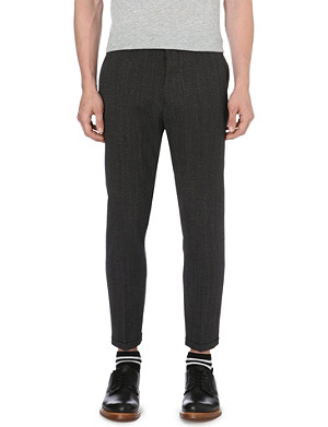 MARNI Herringbone slim-fit trousers