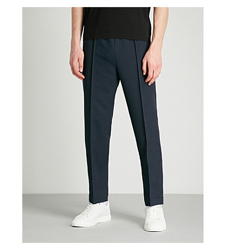 MARNI Zip pocket regular-fit woven trousers (Navy