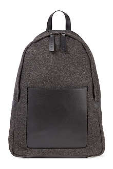 MARNI Felt-leather backpack