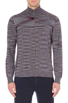 MISSONI Contrast elbow-patch wool cardigan