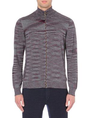 MISSONI Contrast elbow-patch wool cardigan