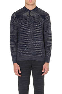 MISSONI Abstract-knit polo shirt