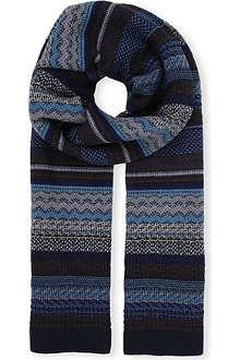 MISSONI Zig-zag stripe scarf
