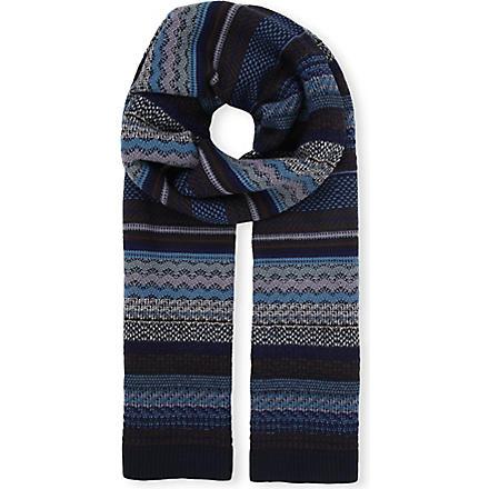 MISSONI Zig-zag stripe scarf (Multi