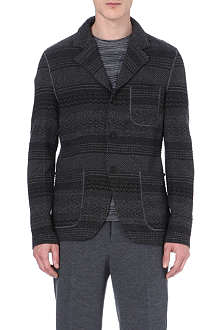 MISSONI Striped wool-blend blazer