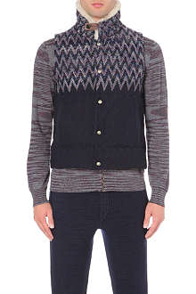 MISSONI Zig-zag knit quilted gilet
