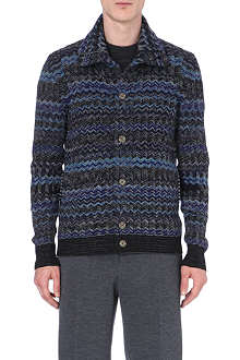 MISSONI Roll-neck zig-zag cardigan